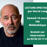 LECTURE-SPECTACLE HERVE LANG