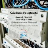 Affiche coupure d'électricité
