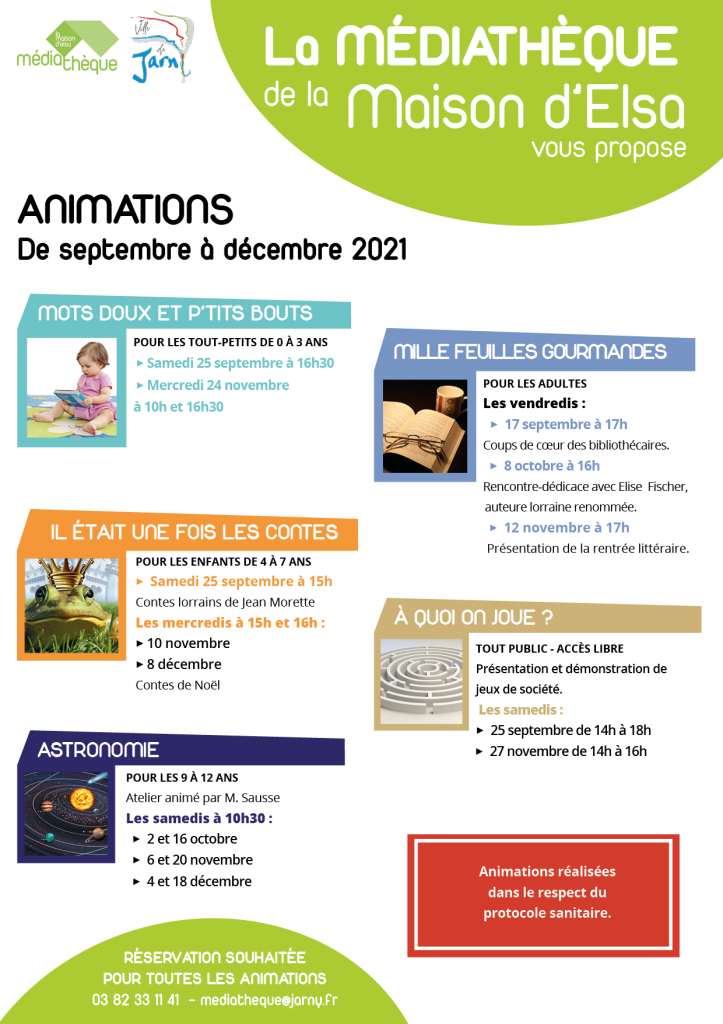 Agenda sep-dec 2021